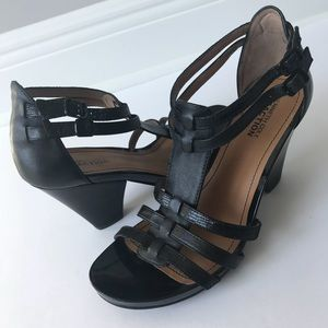 Kenneth Cole Leather strappy wedge sandals